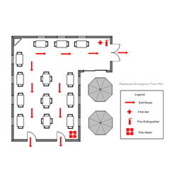 Easy to use floor plan drawing software for Restaurant floor plan software
